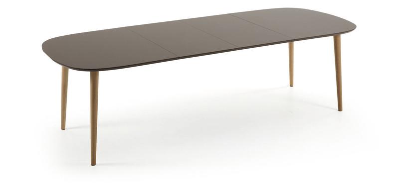 Oakland mesa ovalada extensible de la forma monfort hogar for Mesa ovalada extensible