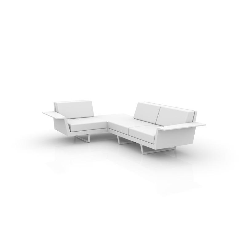 Flat sofa 3 plazas esquinero derecho de vondom monfort hogar for Sofa esquinero jardin